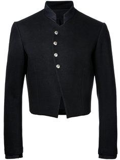 укороченный пиджак с высоким воротником Aganovich