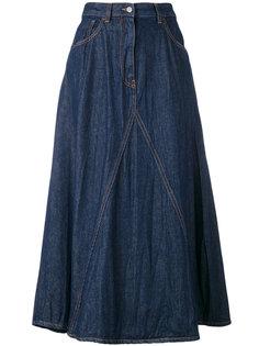 жатая юбка длины миди Mm6 Maison Margiela