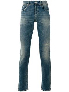 рваные зауженные джинсы Dondup
