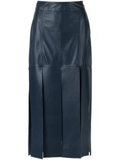 leather midi skirt Giuliana Romanno