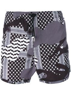 камуфляжные шорты для плавания Kefiah Neil Barrett