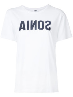 футболка с логотипом спереди Sonia By Sonia Rykiel
