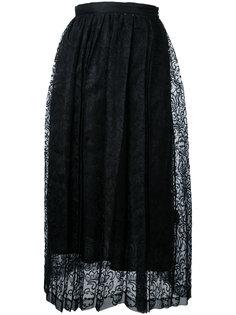 юбка в складку с кружевной отделкой Taro Horiuchi