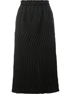 юбка с ребристой текстурой Issey Miyake