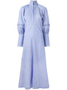длинное платье-рубашка с буффами Ellery
