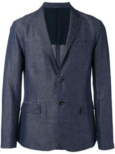 полосатый пиджак из ткани шамбре Emporio Armani
