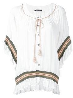 блузка с вышивкой полосками  Roberto Collina
