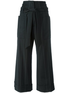 широкие укороченные брюки Brunello Cucinelli
