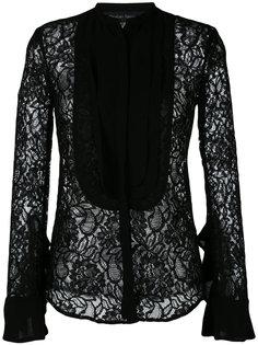 sheer lace bib shirt Christian Pellizzari