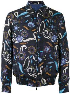 куртка с цветочным принтом Fendi