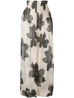 floral print sheer trousers Forte Forte