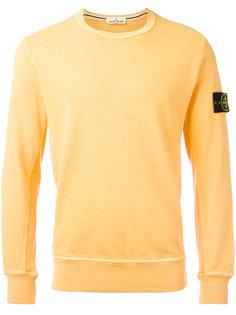 свитер с нашивкой на рукаве Stone Island