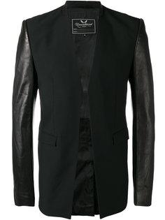 leather sleeve cutaway jacket Unconditional