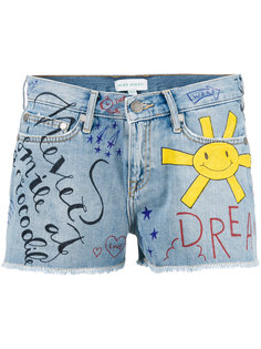 doddle print denim shorts Mira Mikati
