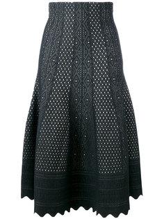 кружевная юбка с фестонами Alexander McQueen