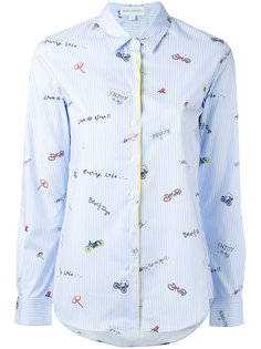 полосатая рубашка с рисунками Mira Mikati