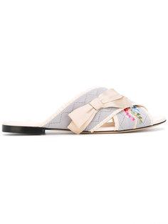 сандалии с вышивкой Fendi