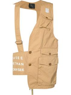 стилизованная жилетка с накладными карманами Undercover