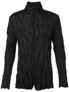 фактурная рубашка с воротником-стойкой Issey Miyake