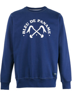 logo print sweatshirt Bleu De Paname