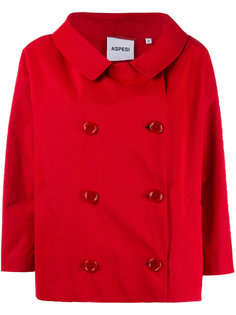 короткое двубортное пальто   Aspesi