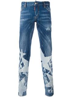 джинсы с принтом звезд Dsquared2
