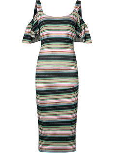 платье в полоску Nicole Miller