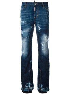 джинсы с потертой отделкой Ski Dsquared2