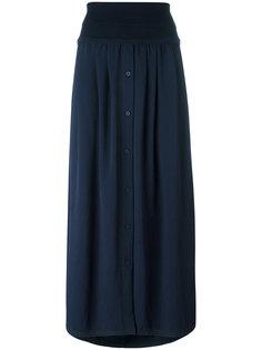 удлиненная юбка с завышенной талией DKNY