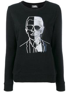 толстовка с принтом Karl Karl Lagerfeld