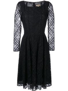 кружевное платье с расклешенной юбкой Burberry