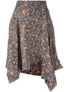 асимметричная юбка с цветочным принтом  Isabel Marant