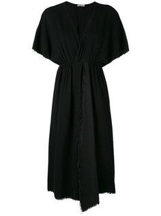 fray-trimmed asymmetric dress Masscob
