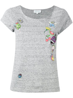 футболка с принтами и нашивкой Mira Mikati