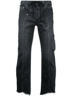 raw hem cropped jeans Christian Dada