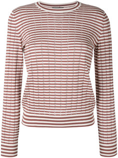 Annabelle striped pointelle-knit sweater A.P.C.
