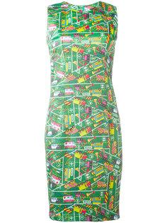 приталенное платье с принтом транспорта Ultràchic