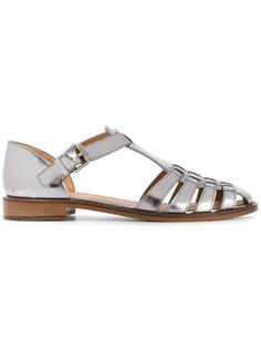 сандалии с отделкой металлик и пряжками Churchs