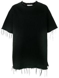 джинсовая футболка с необработанными краями Marquesalmeida