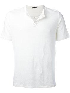 open neck T-shirt Roberto Collina