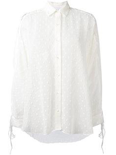 рубашка с твидовой отделкой Iro