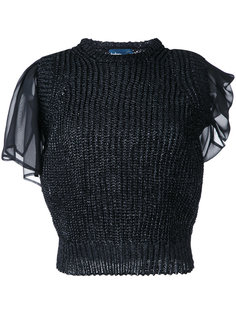layered knit blouse Kolor