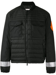 дутая куртка со светоотражающим принтом Moncler X Off-White