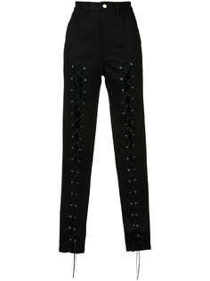 lace front trousers Sally Lapointe