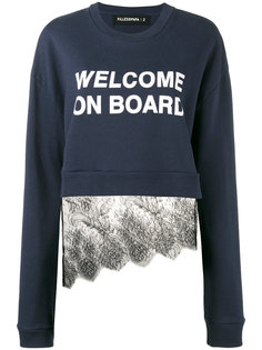 welcome on board lace sweatshirt Filles A Papa