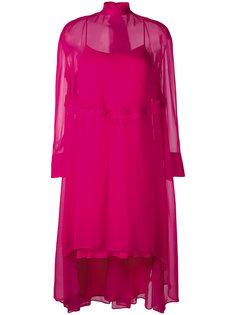 полупрозрачное асимметричное платье Cédric Charlier