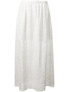 полупрозрачная юбка с геометрическим принтом Philosophy Di Lorenzo Serafini