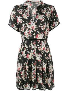 платье со складками и цветочным рисунком Amen Amen.