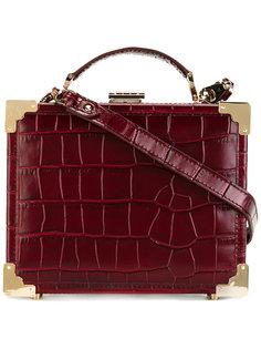 сумка на плечо с эффектом крокодиловой кожи Aspinal Of London