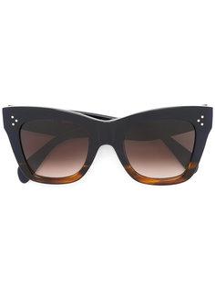 солнцезащитные очки в объемной оправе Céline